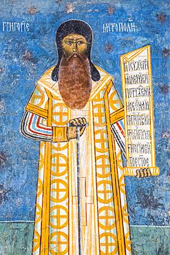 Fresco of Mitropoli, Voronet Monastery, 1487; Gura Humorului, Suceava County, Romania