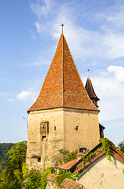 Bootmaker's Tower; Sighisoara, Mures County, Transylvania Region, Romania