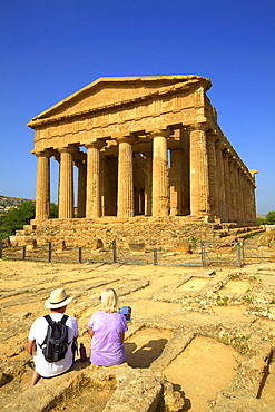 Temple of Concord, Valley of the Temples, Agrigento, UNESCO World Heritage Site, Sicily, Italy, Europe