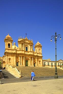 San Nicolo Cathedral, UNESCO World Heritage Site, Noto, Sicily, Italy, Europe