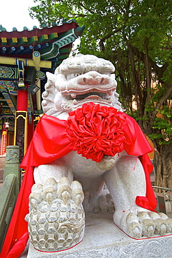 Chinese Guardian Lion, Hong Kong, China, Asia