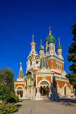 St. Nicholas Russian Orthodox Cathedral, Nice, Alpes-Maritimes, Cote d'Azur, French Riviera, Provence, France, Mediterranean, Europe