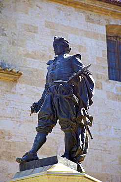 Statue of Jose de Ribera, Plaza Del Poeta Llorente, Valencia, Spain, Europe