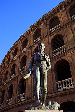 Statue of the Toreador Manolo Montoliu, Plaza De Toros, Valencia, Spain, Europe