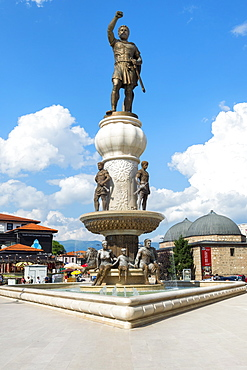 Philip II of Macedonia statue and fountain, Skopje, Macedonia, Europe