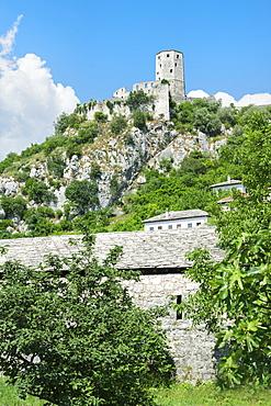 Ruins of Pocitelj in Bosnia and Herzegovina, Europe