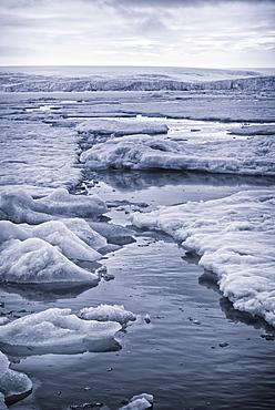 Ice on Hinlopen Strait, Norway, Europe
