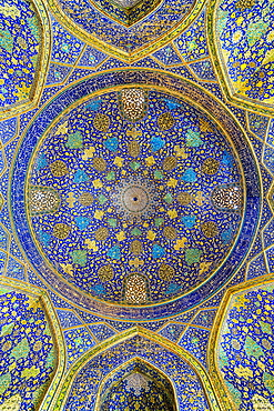 Iwan, Dome, Masjed-e Imam Mosque, Maydam-e Iman square, Esfahan, Iran, Middle East