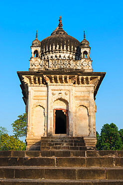 Parvati temple with architectural elements of three religions, Islam, Buddhism and Hinduism, Khajuraho Group of Monuments, UNESCO World Heritage Site, Madhya Pradesh state, India, Asia