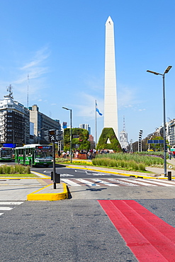 Obelisk on Avenue 9 de Julio, Buenos Aires, Argentina, South America