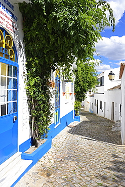 White houses and narrow streets in Alte, Loule, Algarve, Portugal, Europe