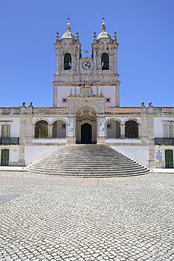 Our Lady of Nazare Church (Largo Nossa Senhora da Nazare), Sitio village, Nazare, Leiria district, Portugal, Europe