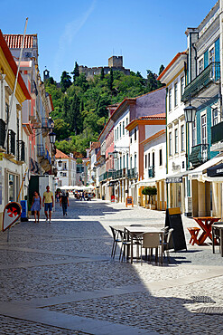 Street in city center, Tomar, Santarem district, Portugal
