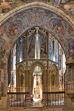 Charola, Templar round Church, Castle and Convent of the Order of Christ, Tomar, Santarem district, Portugal