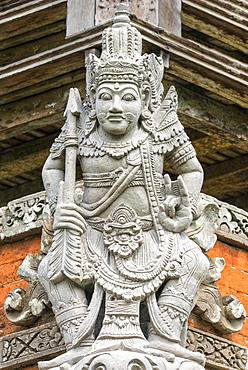 Pura Taman Ayun Temple, Sculptures of the Bale basement (Wood pavilion), Mengwi, Bali, Indonesia, Southeast Asia, Asia
