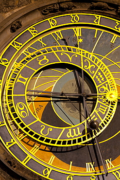 Astronomical Clock on the Town Hall, Old Town Square, UNESCO World Heritage Site, Prague, Czech Republic, Euruope