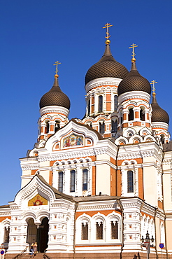 Facade of the Alexander Nevsky Church, Tallinn, Estonia, Europe