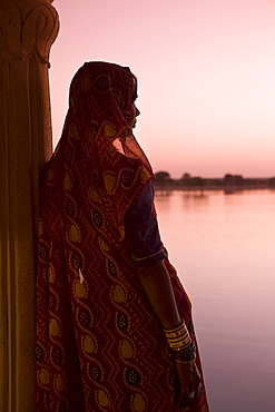 Woman In Traditional Dress, Jaisalmer, Western Rajasthan, India