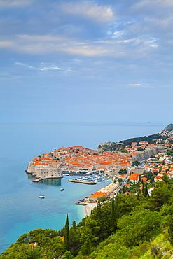 Elevated view over Stari Grad (Old Town), UNESCO World Heritage Site, Dubrovnik, Dalmatia, Croatia, Europe - 1158-442