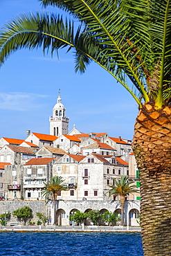 Picturesque Old Town Korcula and harbour, Korcula, Dalmatia, Croatia, Europe - 1158-453