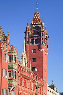 Town Hall at  Ratausplatz Square, Basel, Canton Basel Stadt, Switzerland, Europe