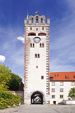 Bayertor Tower, old town of Landsberg am Lech, Bavaria, Germany, Europe