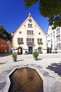 Town Hall, Hornberg, Gutachtal Valley, Black Forest, Baden Wurttemberg, Germany, Europe
