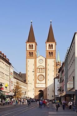 Cathedral of St. Kilian, Wurzburg, Franconia, Bavaria, Germany, Europe