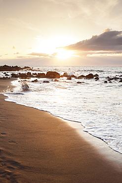 Playa des Ingles, beach, La Playa, Valle Gran Rey, La Gomera, Canary Islands, Spain, Atlantic, Europe