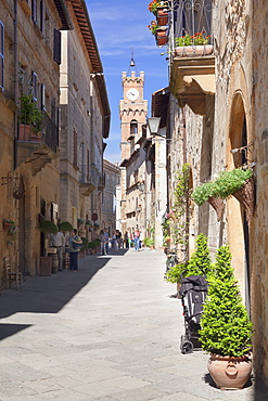 Pienza, Val d'Orcia (Orcia Valley), UNESCO World Heritage Site, Siena Province, Tuscany, Italy, Europe
