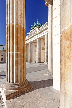 Brandenburg Gate (Brandenburger Tor), Pariser Platz square, Berlin Mitte, Berlin, Germany, Europe