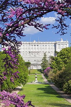 Campo del Moro Park, Royal Palace (Palacio Real), Madrid, Spain, Europe