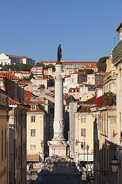 Rossio, Praca de Dom Pedro IV, Baixa, Lisbon, Portugal, Europe