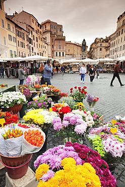 Market on Campo de Fiori Square, Rome, Lazio, Italy, Europe
