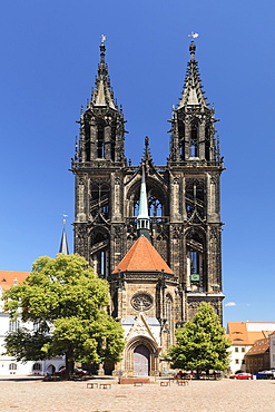 Cathedral at Burgberg Hilll, Meissen, Saxony, Germany, Europe