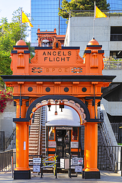 Angels Flight Railway in downtown Los Angeles, Los Angeles, California, United States of America