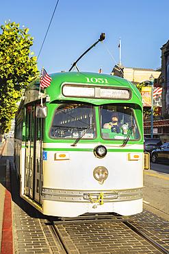 Cable Car in Jefferson Street, San Francisco, California, USA