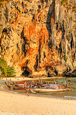 Phra Nang Beach at sunset, Railay Peninsula, Krabi Provonce,Thailand, Southeast Asia, Asia