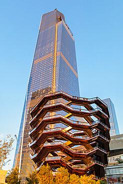 The Vessel, artwork structure designed by British Architect Thomas Heatherwick, Hudson Yards, New York City, New York State, United States of America, North America