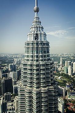 Petronas Tower I (452m), Kuala Lumpur, Malaysia.