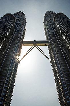 Petronas Towers (452m), Kuala Lumpur, Malaysia.