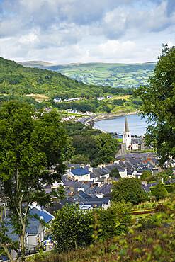 The village of Glenarm and the rural landscape of the Antrim coast, Ballymena, County Antrim, Ulster, Northern Ireland, United Kingdom, Europe