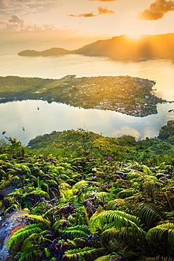 View over the Banda archipelago from the summit of Gunung Api Wetar volcano, Banda Api, Maluku, Spice Islands, Indonesia, Southeast Asia, Asia