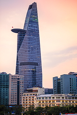 The Bitexco Tower and surrounding buildings in District One of Ho Chi Minh City (Saigon), Vietnam, Indochina, Southeast Asia, Asia