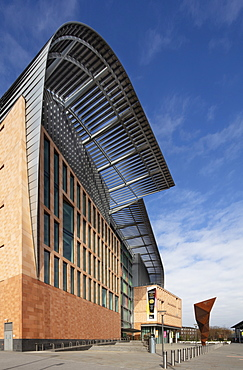Exterior of the Francis Crick Institute, one of the largest medical research centres in Europe, Kings Cross, London, England, United Kingdom, Europe