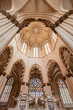 Tomb of John I and Philippa of Lancaster in the Founder's Chapel of the Gothic Batalha Monastery, UNESCO World Heritage Site, Batalha, Centro, Portugal, Europe