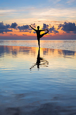 Yoga at dawn, Ko Rung, Sihanoukville Province, Cambodia, Southeast Asia