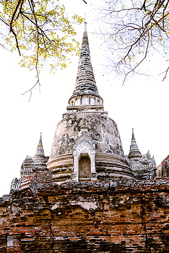 Stupa (Chedi) at Wat Mahathat, Ayutthaya, UNESCO World Heritage Site, Thailand, Southeast Asia, Asia
