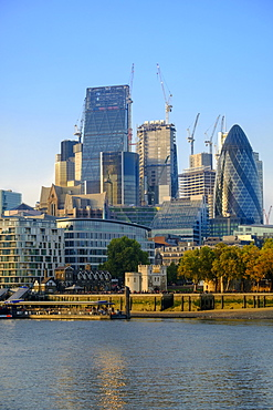 City of London financial district skyline, London, England, United Kingdom, Europe