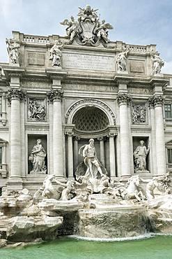 The Trevi Fountain, famously featured in the film La Dolce Vita, Rome, Lazio, Italy, Europe